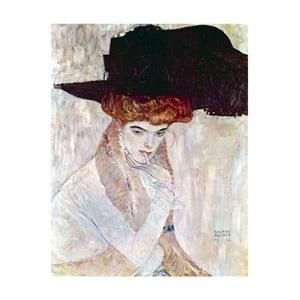 Gustav Klimt - obraz The Black Hat, 70x90 cm