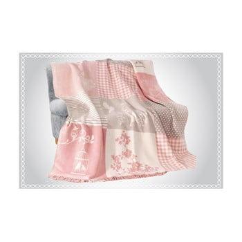 Pătură din amestec de bumbac Aksu Rene, 220 x 180 cm