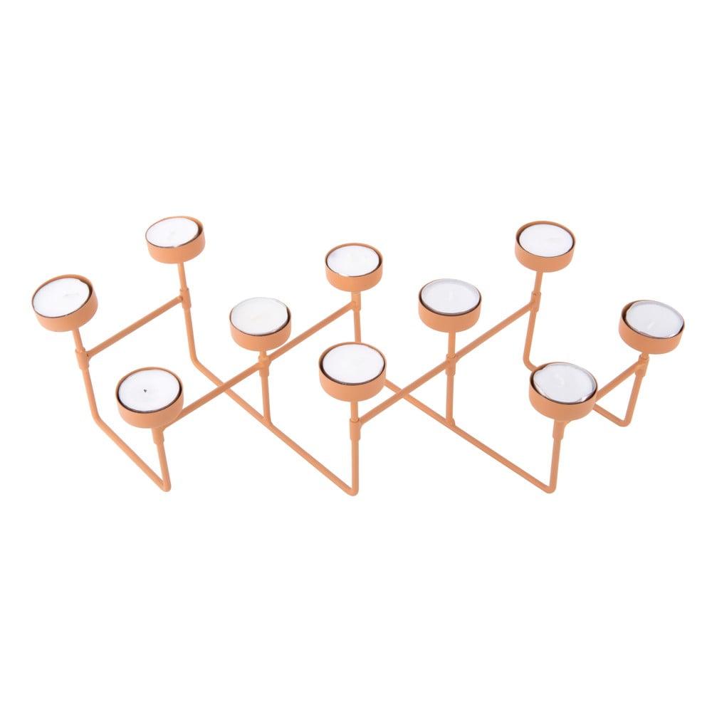 Karamelově hnědý stojánek na čajové svíčky PT LIVING Harmonica