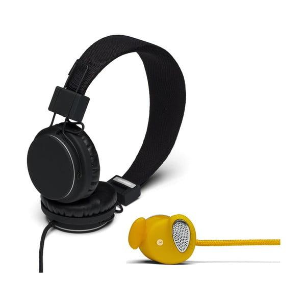 Sluchátka Plattan Black + sluchátka Medis Mustard ZDARMA