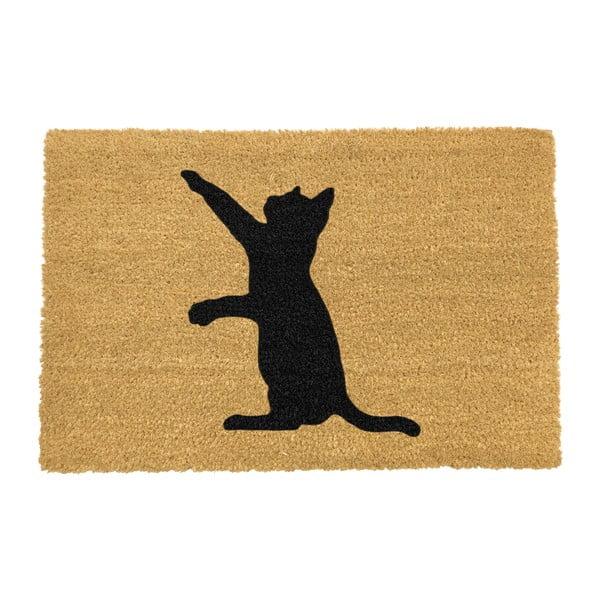 Covoraș intrare din fibre de cocos Artsy Doormats Cat, 40 x 60 cm