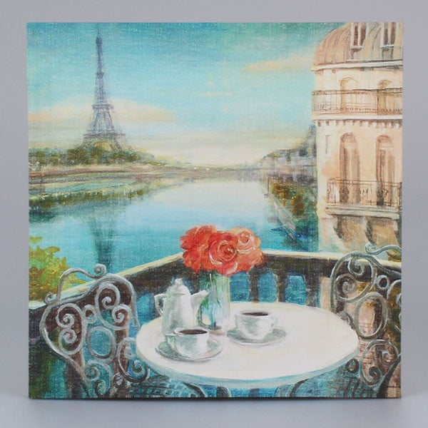 Obraz na plátně Paris Coffee, 38x38 cm