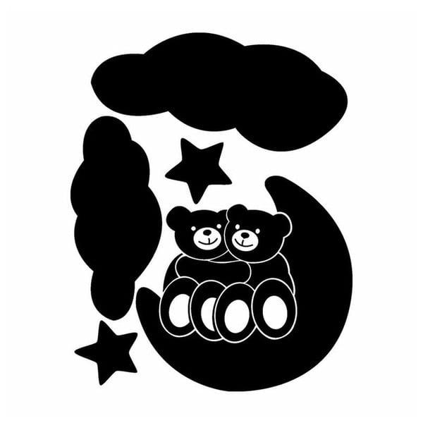 Samolepka Baby Bears and Moon