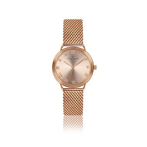 Dámské hodinky s páskem z nerezové oceli v barvě růžového zlata Frederic Graff Mandy