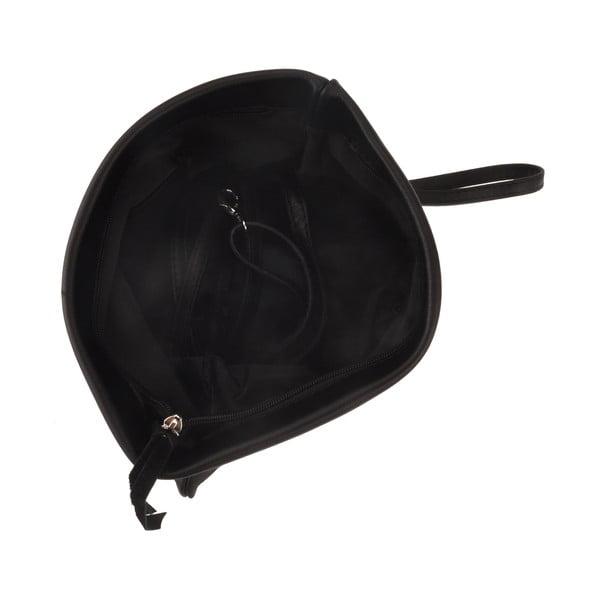 Kožená kabelka Castor, černá