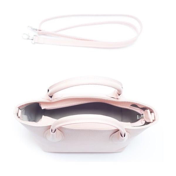Kožená kabelka Carlota, růžová