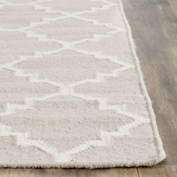 Vlněný koberec Darien 152x243 cm, šedobéžový