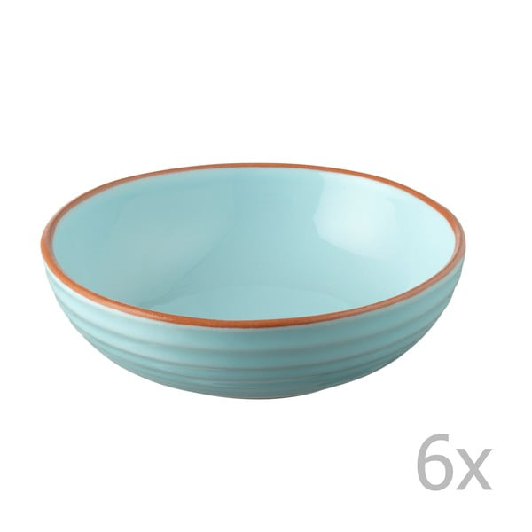 Sada 6 misek Jamie Oliver 17 cm, modrá
