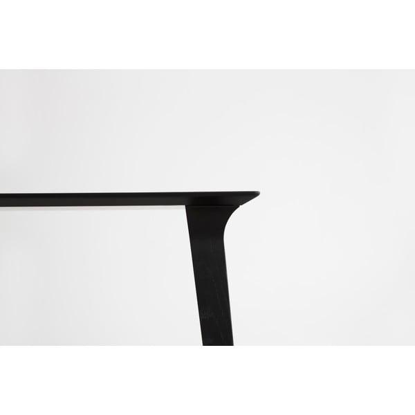 Stůl z černě mořeného jasanu Stua Lau 90x180cm