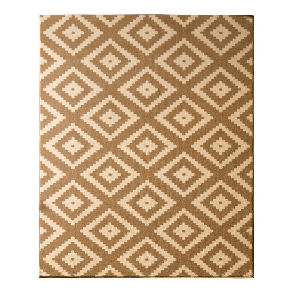 Béžový koberec Hanse Home Hamla Diamond, 80x150cm