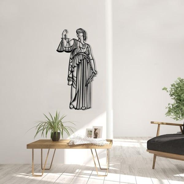 Černá kovová nástěnná dekorace Justice, 35 x 70 cm