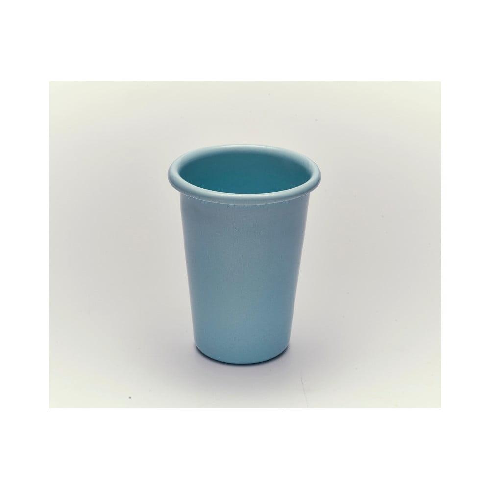 Modrý smaltovaný hrneček bez ouška Kapka Back To Basics, 450ml