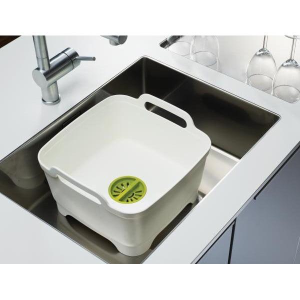 Mycí nádoba s odtokovým uzávěrem Wash&Drain, šedá