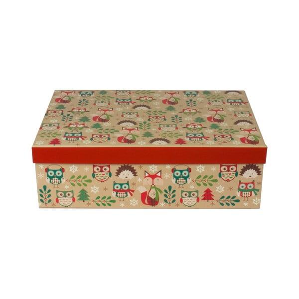 Sada 3 ks podlouhlých krabic Tri-Coastal Christmas Stories