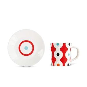 Hrnek na espresso s podšálkem Remember Dots,75ml