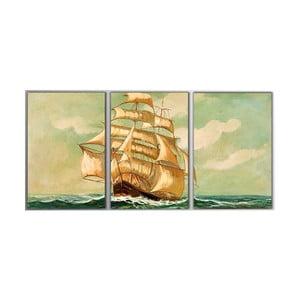 3dílný obraz Big Boat, 45x90 cm