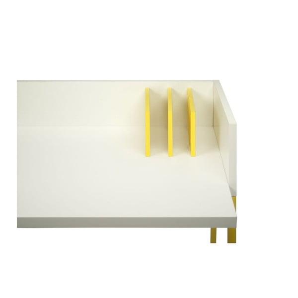 Pracovní stůl Volga White/Yellow, 90x60x88 cm