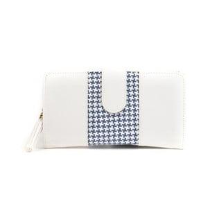 Bílá peněženka s modrým detailem Mangotti Bags Ophelia