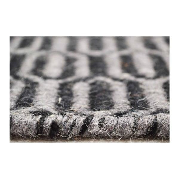 Ručně tkaný koberec Flat Honey White, 140x200 cm