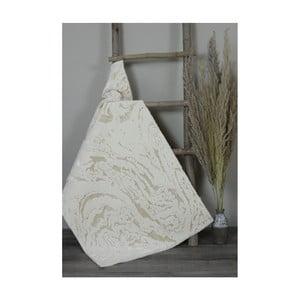 Béžová bavlněná koupelnová předložka My Home Plus Sensation, 60 x 60 cm