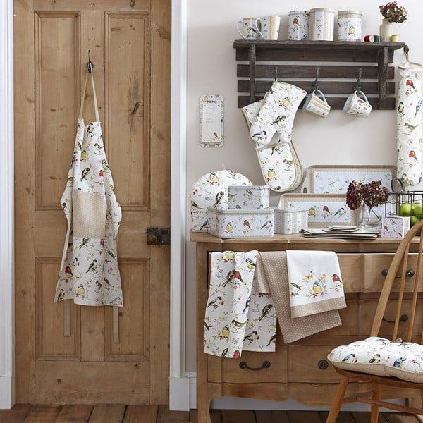 Nákupní taška z bavlny Cooksmart England Dawn Chorus, 25x25 cm