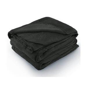 Tmavě šedá deka z mikrovlákna AmeliaHome Tyler, 150 x 200 cm
