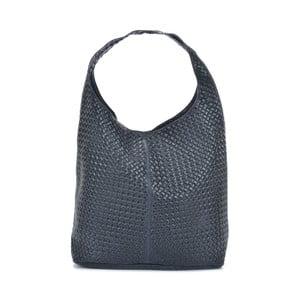 Tmavě modrá kožená kabelka Mangotti Bags Estela