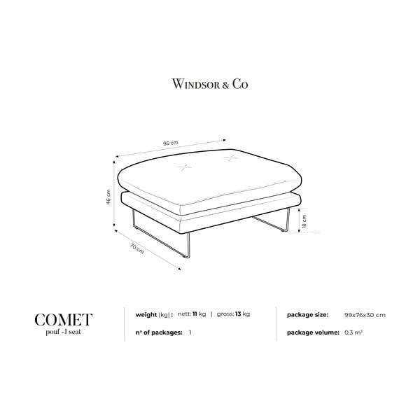 Červená podnožka Windsor & Co Sofas Comet