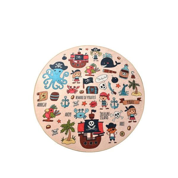Dětský protiskluzový koberec Chilai Pirate,ø140cm