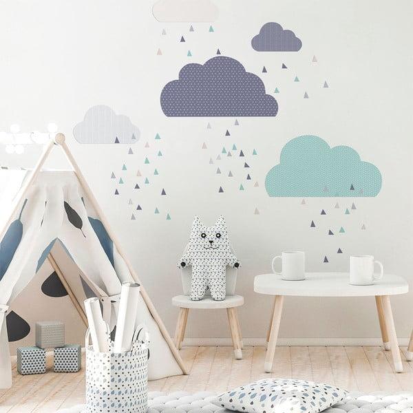 Modrá nástěnná samolepka Ambiance Scandinavian Clouds