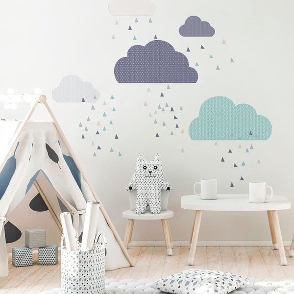 Scandinavian Clouds kék falmatrica - Ambiance