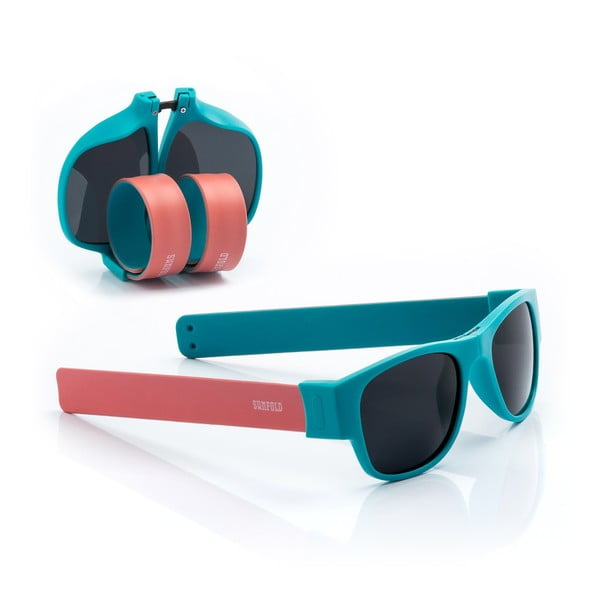 Ochelari de soare pliabili InnovaGoods Sunfold AC1, roz - albastru