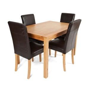 Jídelní sada stolu a 4 židlí Hampton