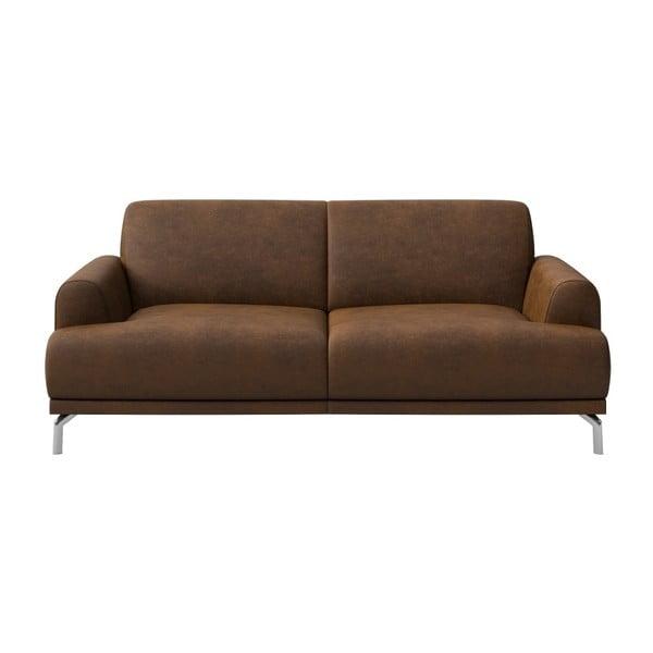 Canapea cu 2 locuri MESONICA Puzo, maro