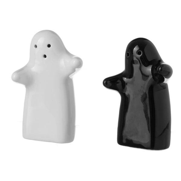 Set solniță și piperniță Unimasa Ghosts, ceramică