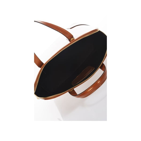 Kožená kabelka Italia 364 Cognac