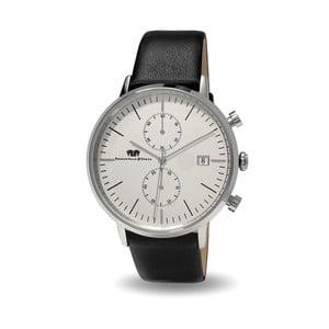 Černé pánské s bílým ciferníkem hodinky Rhodenwald & Söhne Hyperstar