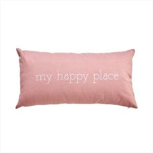 Růžový polštář Butlers Words My Happy Place