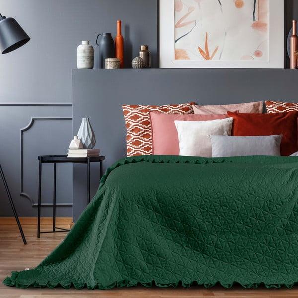 Zelený přehoz přes postel AmeliaHome Tilia, 240x260cm