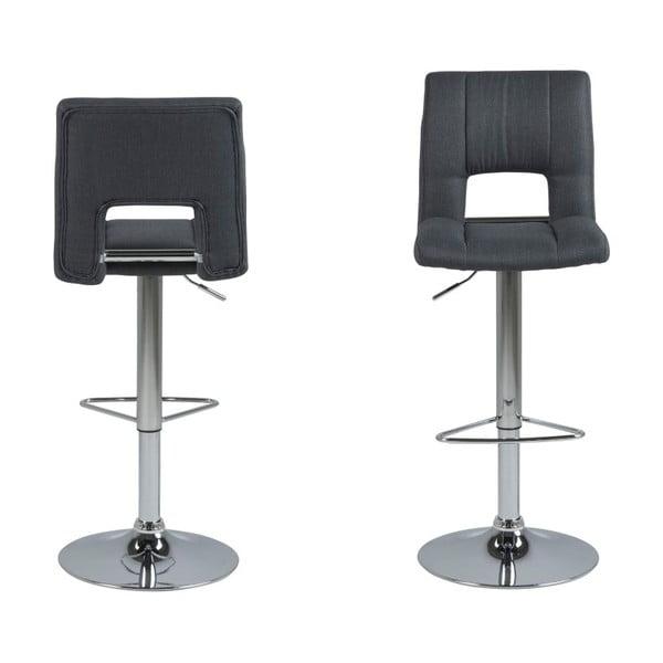 Set 2 scaune pentru bar Actona Wilma Barstool, gri închis