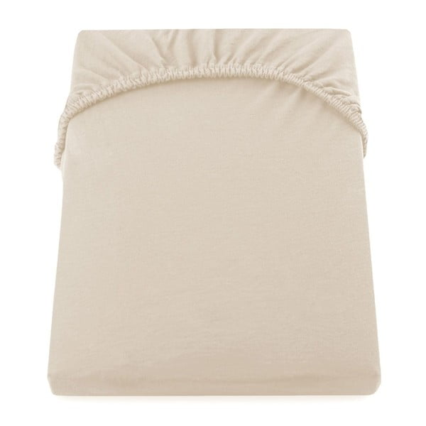 Cearșaf de pat cu elastic DecoKing Nephrite, 120–140 cm, bej
