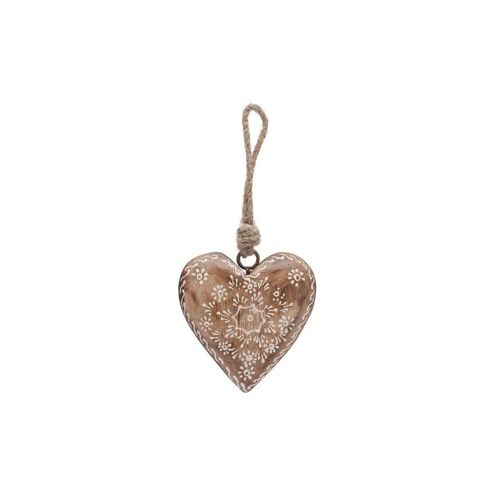 Závěsná dekorace AnticLine Country Nature Heart Single