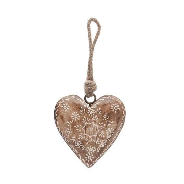 Závěsná dekorace Country Nature Heart Single