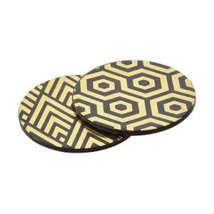 Sada 4 koženkových podtácků Premier Housewares Art, ⌀ 25 cm