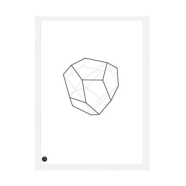 Plakát Emerald Geometric, 50x70 cm