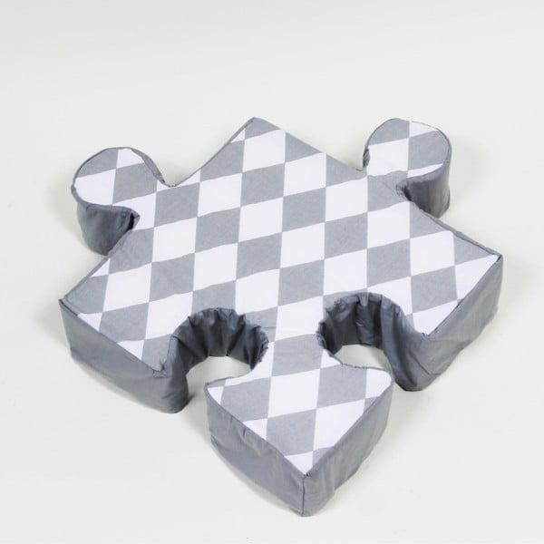 Šedý polštářek Puzzle Rhomb