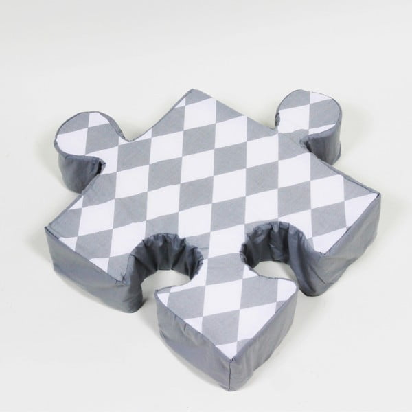Puzzle Rhomb szürke kispárna - K-ID
