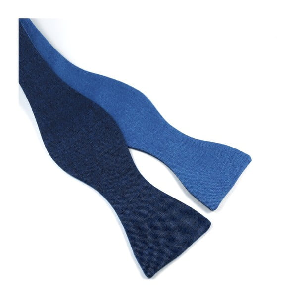 Modrý vázací motýlek, oboustranný