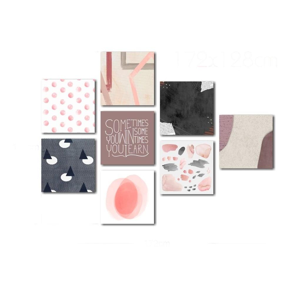 Sada skleněných obrazů Insigne Pink
