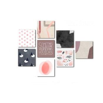 Set 8 tablouri Insigne Pink imagine